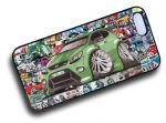 Koolart STICKERBOMB STYLE Design For Green Ford Focus RS Hard Case Cover Fits Apple iPhone 4 & 4s